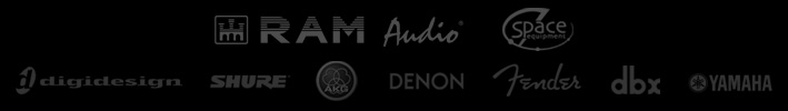 Ram Audio, Space Equipment, Degidesign, Shure, AKG, Denon...
